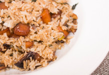 kale and squash rice